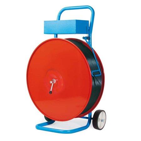 Abrollwagen, für PP + PET-Band Großrollen fahrbar, für Kerndurchmesser 200mm/280mm/406mm