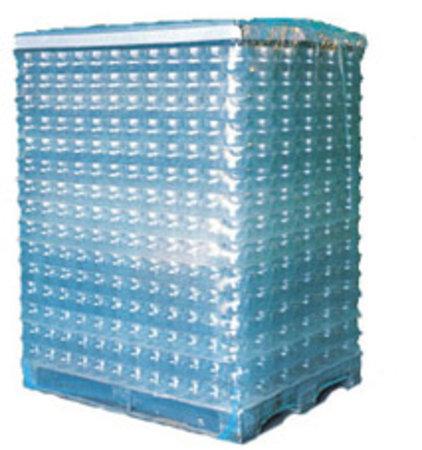 PE-Schrumpfschlauch, 850+650mm, 100lfm, 125µ transparent, mit Seitenfalte