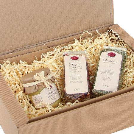 Geschenkfüllmaterial aus recyclebarem dreilagigen 80g/qm Papier, 10kg per Karton Sizzle-Pak, creme