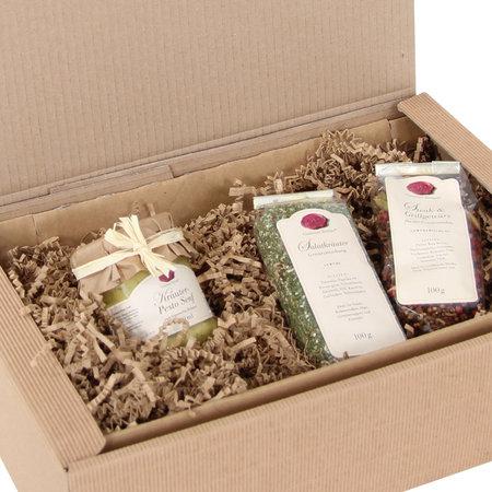 Geschenkfüllmaterial aus recyclebarem dreilagigen 80g/qm Papier, 10kg per Karton Sizzle-Pak, natur