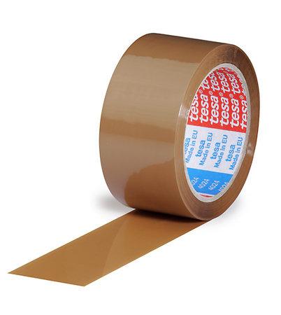 PP-Klebeband, 50mm breit x 66lfm, 52µ braun, leise Acrylatkleber, tesa 4024