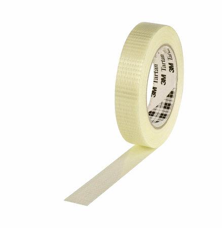 Filamentband Spezial, 25mm breitx50lfm, 125µ, transp.,längs- u.querverstärkt, Hotmeltkleber, 3M Scotch 8954