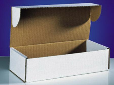Klappschachtel 1-wellig, 308x112x80mm, Qual. 1.2B weiß seitliche Einstecklaschen