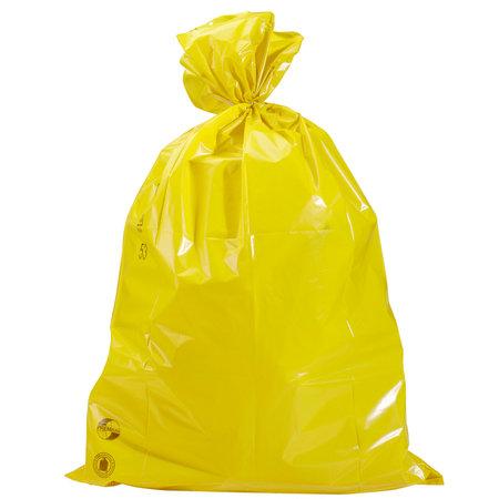 PE-Abfallsäcke, 700x1100mm, Inhalt 120l, 40µ, gelb, 10 St. je Ro./25 Ro. je Karton