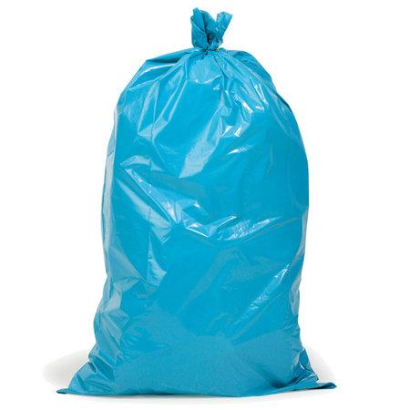 PE-Abfallsäcke, 700x1100mm, Inhalt 120l, 60µ, blau, 25 St. je Ro./10 Ro. je Karton