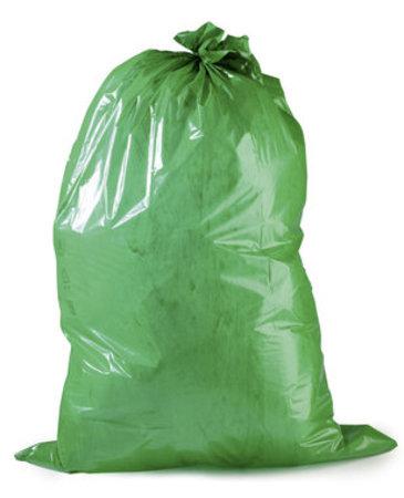 PE-Abfallsack Premium, 700x1100mm, 45µ, grün, Inhalt 120l, 25 St. je Ro./10 Ro. je Karton