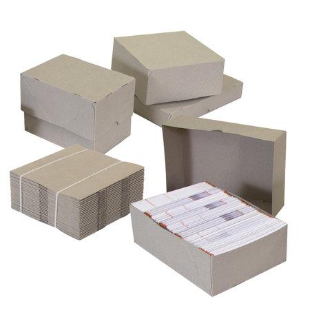 Stülpdeckelschachtel, 215x153x100/100mm, A5 Qual. 400g/qm grau, 2-teilig