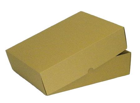 Stülpdeckelkarton, 435x315x110mm, A3, 2-teilig Mikrowellpappe, braun