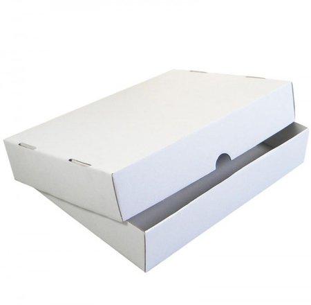 Stülpdeckelkarton, 252x180x45mm, C5, 2-teilig Mikrowellpappe, weiß Versand als Maxibrief möglich