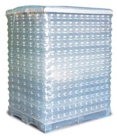 PE-Schrumpfhaube, 1250+850x2600mm, 90µ transparent, mit Seitenfalte