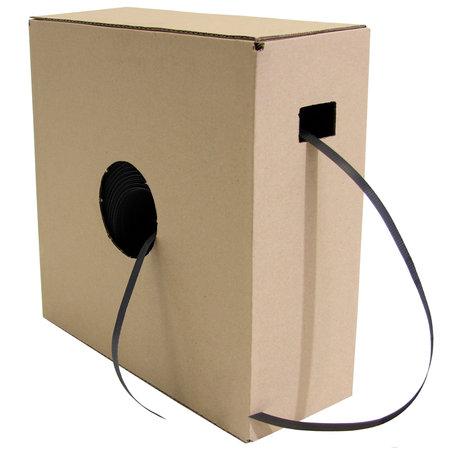 PP-Umreifungsband, 12,7mmx0,5mmx1000lfm, schwarz, im Spendekarton, Reißfestigkeit 170kp