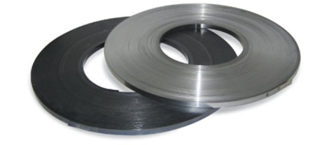Stahlband blank, 16mm breitx0,5mm, Scheibenwicklung, gefettet, arrondierte Kanten